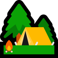 Camping Emoji on Windows