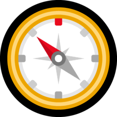 Compass Emoji on Windows