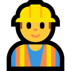 Construction Worker Emoji on Windows