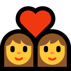 Couple With Heart: Woman, Woman Emoji on Windows