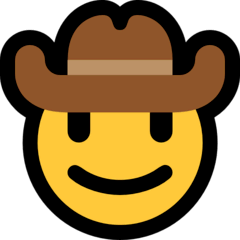 Cowboy Hat Face Emoji on Windows
