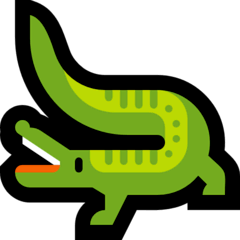 Crocodile Emoji on Windows
