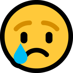 Crying Face Emoji on Windows