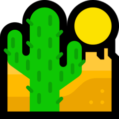 Desert Emoji on Windows