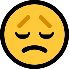 Disappointed Face Emoji on Windows