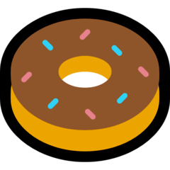 Doughnut Emoji on Windows