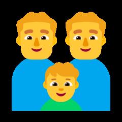 Family: Man, Man, Boy Emoji on Windows