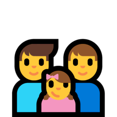Family: Man, Man, Girl Emoji on Windows
