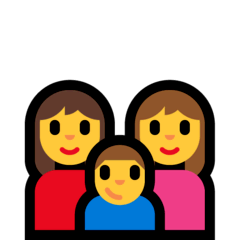 Family: Woman, Woman, Boy Emoji on Windows