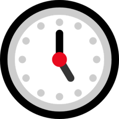 Five O'clock Emoji on Windows