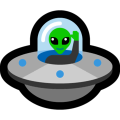 Flying Saucer Emoji on Windows