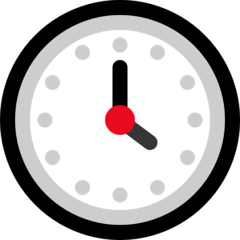 Four O'clock Emoji on Windows