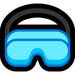 Goggles Emoji on Windows