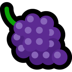 Grapes Emoji on Windows