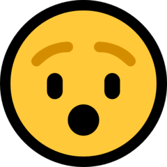 Hushed Face Emoji on Windows