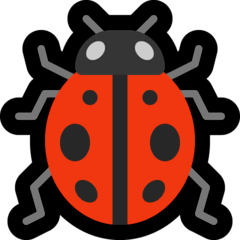 Lady Beetle Emoji on Windows