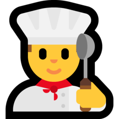 Man Cook Emoji on Windows