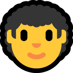 Man, Curly Haired Emoji on Windows
