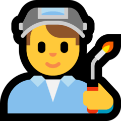 Man Factory Worker Emoji on Windows
