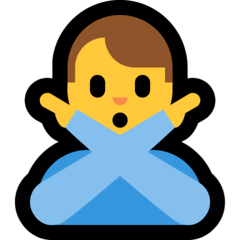 Man Gesturing NO Emoji on Windows