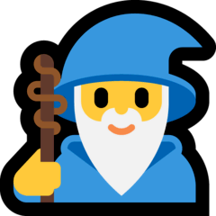 Man Mage Emoji on Windows
