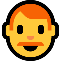 Man, Red Haired Emoji on Windows