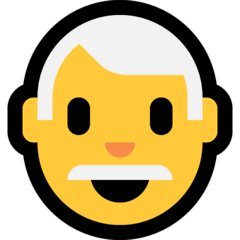 Man, White Haired Emoji on Windows
