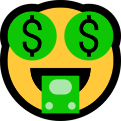 Money-Mouth Face Emoji on Windows