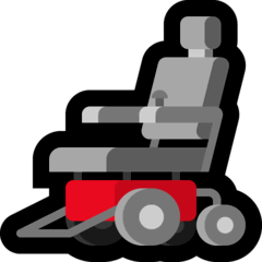Motorized Wheelchair Emoji on Windows