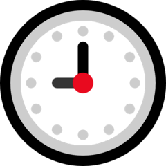 Nine O'clock Emoji on Windows