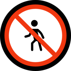 No Pedestrians Emoji on Windows