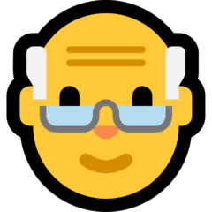 Old Man Emoji on Windows