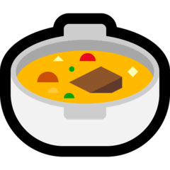 Pot of Food Emoji on Windows