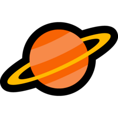 Ringed Planet Emoji on Windows