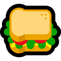 Sandwich Emoji on Windows