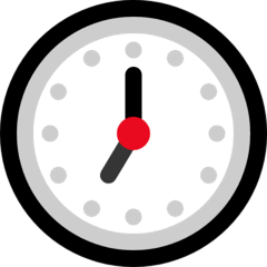 Seven O'clock Emoji on Windows