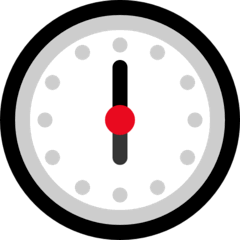 Six O'clock Emoji on Windows