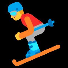 Skier Emoji on Windows