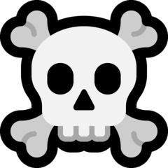 Skull and Crossbones Emoji on Windows
