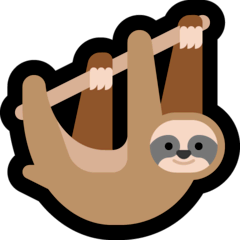 Sloth Emoji on Windows