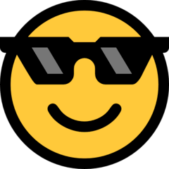 Smiling Face With Sunglasses Emoji on Windows