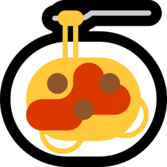 Spaghetti Emoji on Windows