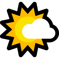 Sun Behind Small Cloud Emoji on Windows