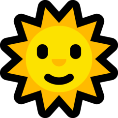 Sun With Face Emoji on Windows