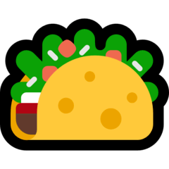 Taco Emoji on Windows