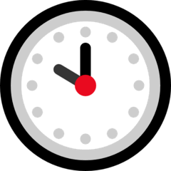 Ten O'clock Emoji on Windows