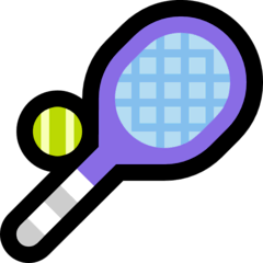 Tennis Emoji on Windows