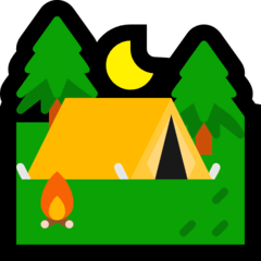 Tent Emoji on Windows