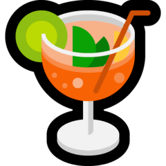 Tropical Drink Emoji on Windows
