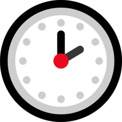 Two O'clock Emoji on Windows